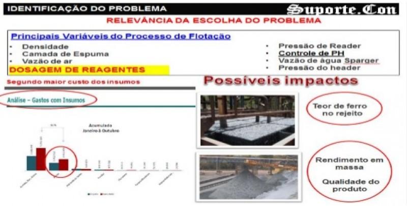 Figura 4 - Documentos para identificação do problema em trabalhos de CCQ (Arquivos de CCQ Vale, 2015)