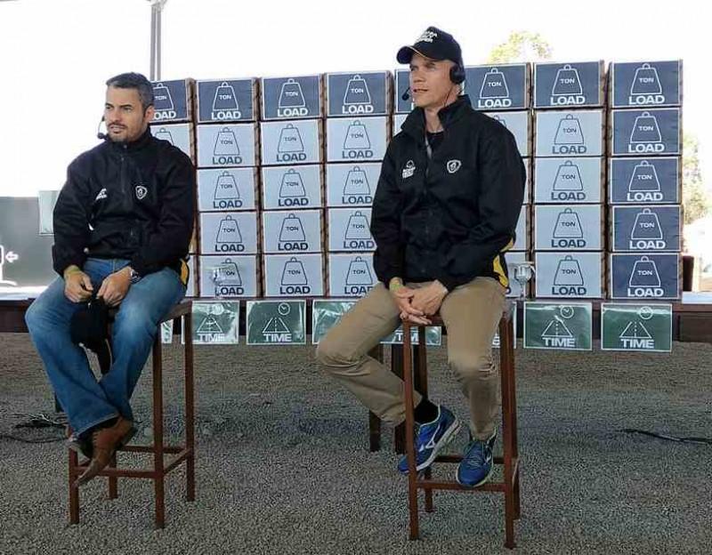 Fabricio Vieira e Björn Winblad, da Scania (foto: CM)