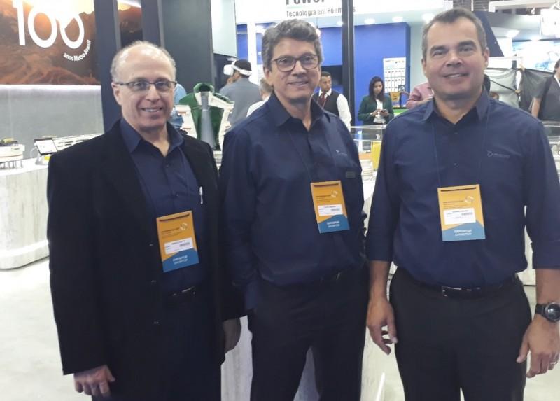 Marcelo Motti, Fausto Rezende e Rodrigo Gouveia, da Metso