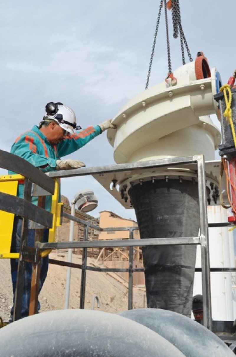 Hidrociclone fornecido pela Metso (foto: Metso)