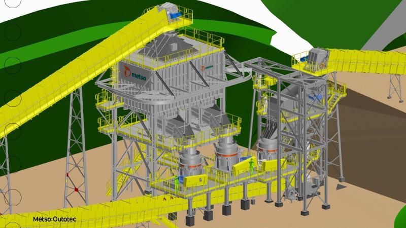Estação Modular Fit para o projeto da Amarillo Gold em Mara Rosa (Foto: Metso Outotec)